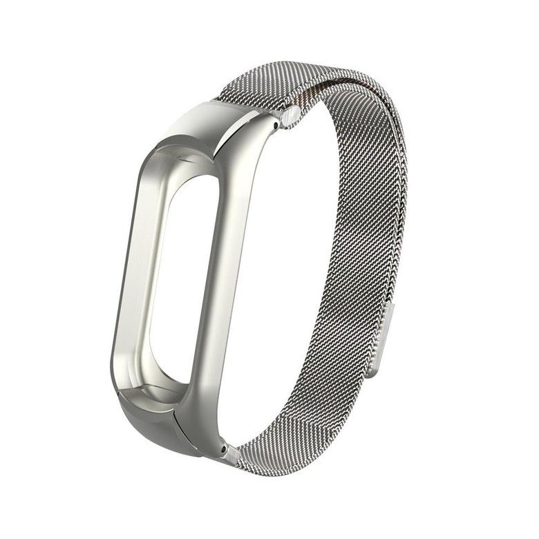 Сетчатый браслет для Xiaomi Mi Band 3 (серебряный)