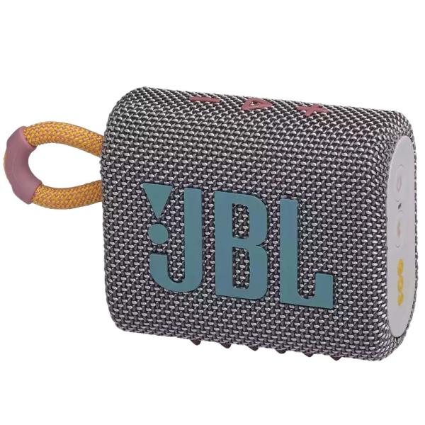Беспроводная акустика JBL Go 3 Grey (JBLGO3GRY)