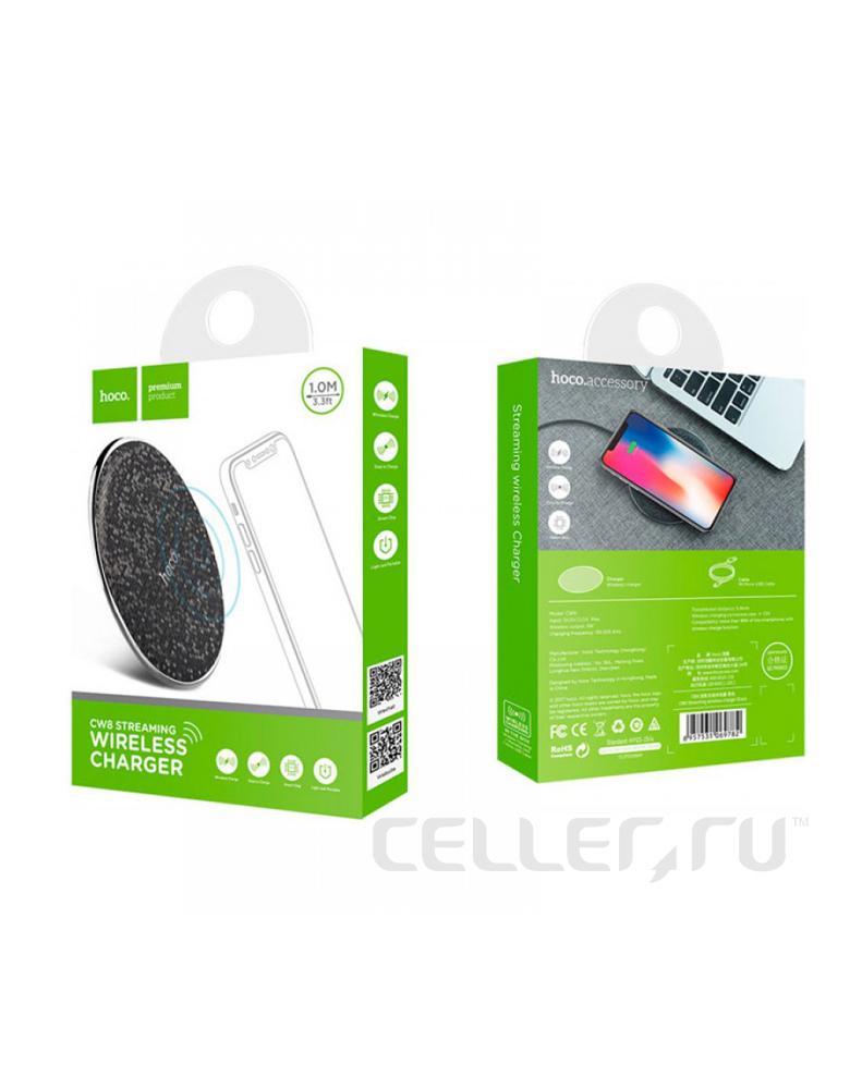 Беспроводное зарядное устройство Hoco CW8 Streaming цвет: черный