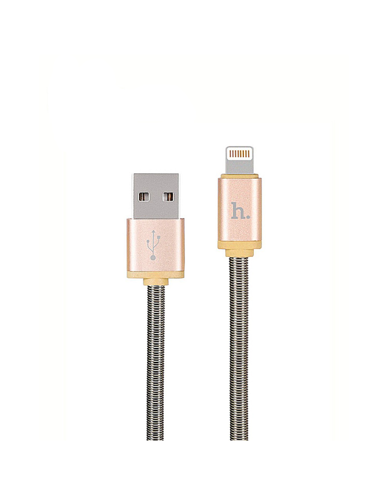 USB кабель HOCO (Original) U5 Metal для Apple 1,2 м. Цвет: Золотой
