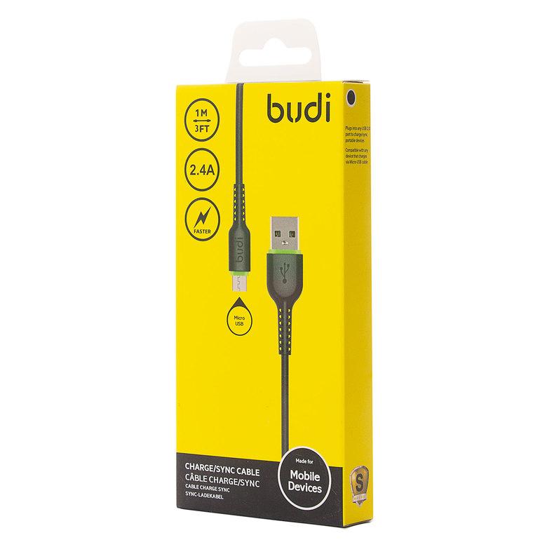 Кабель USB - micro USB budi 158M (120 см) (black)