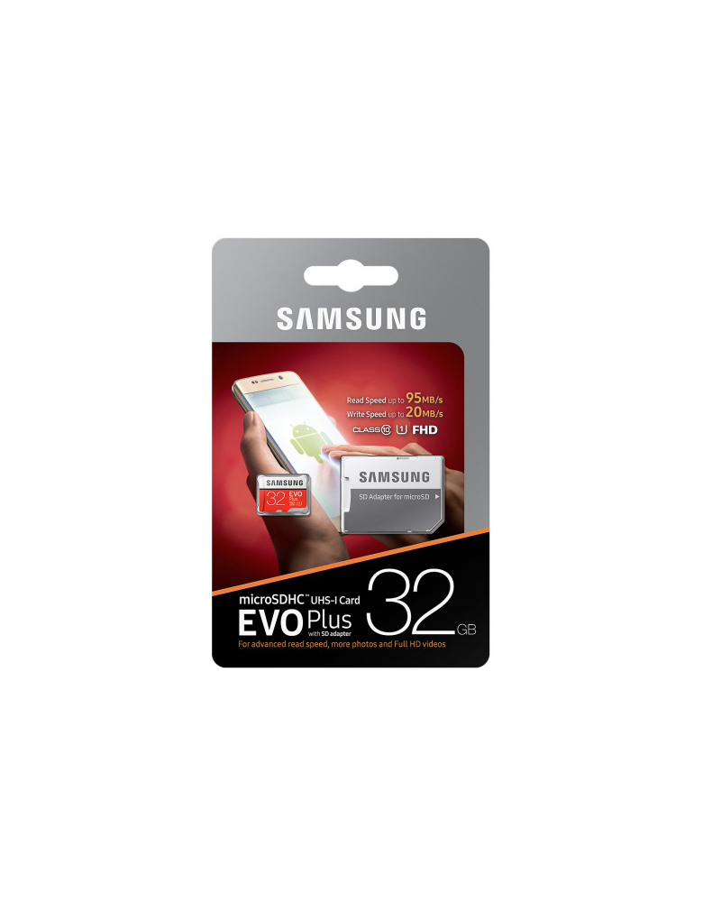 Карта памяти Samsung microSDHC EVO Plus 32GB 95MB/s + SD adapter