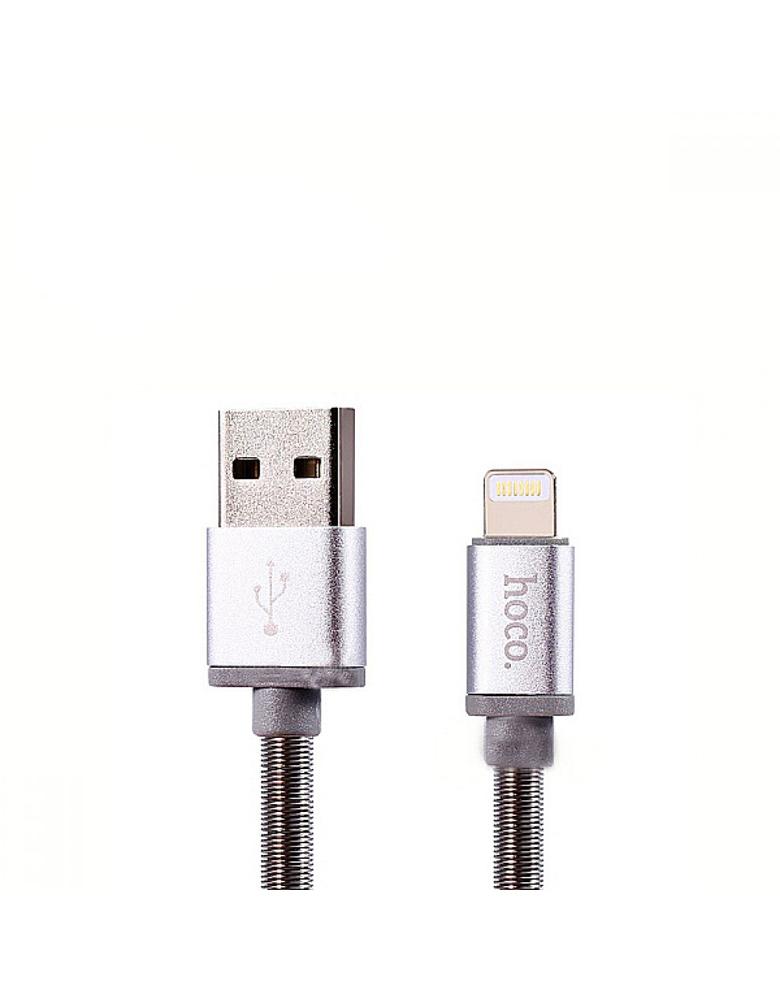 USB кабель Hoco (Original) U5 Metal для Apple 1,2 м. Цвет: Черный