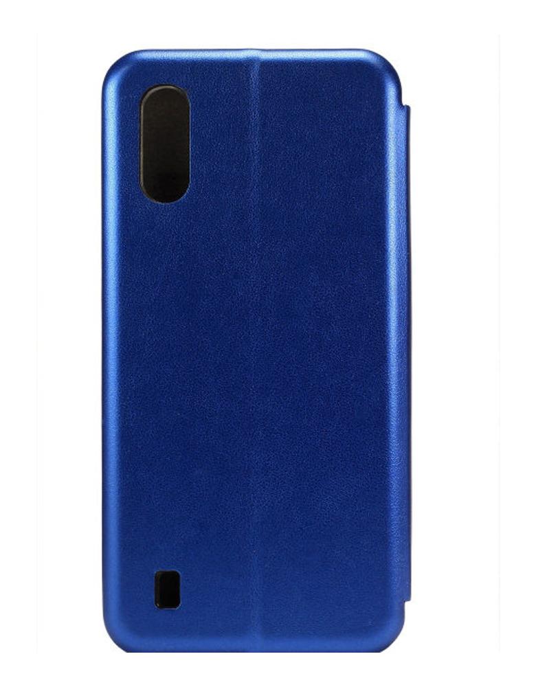 Чехол-книжка для Samsung Galaxy A01 темно-синий