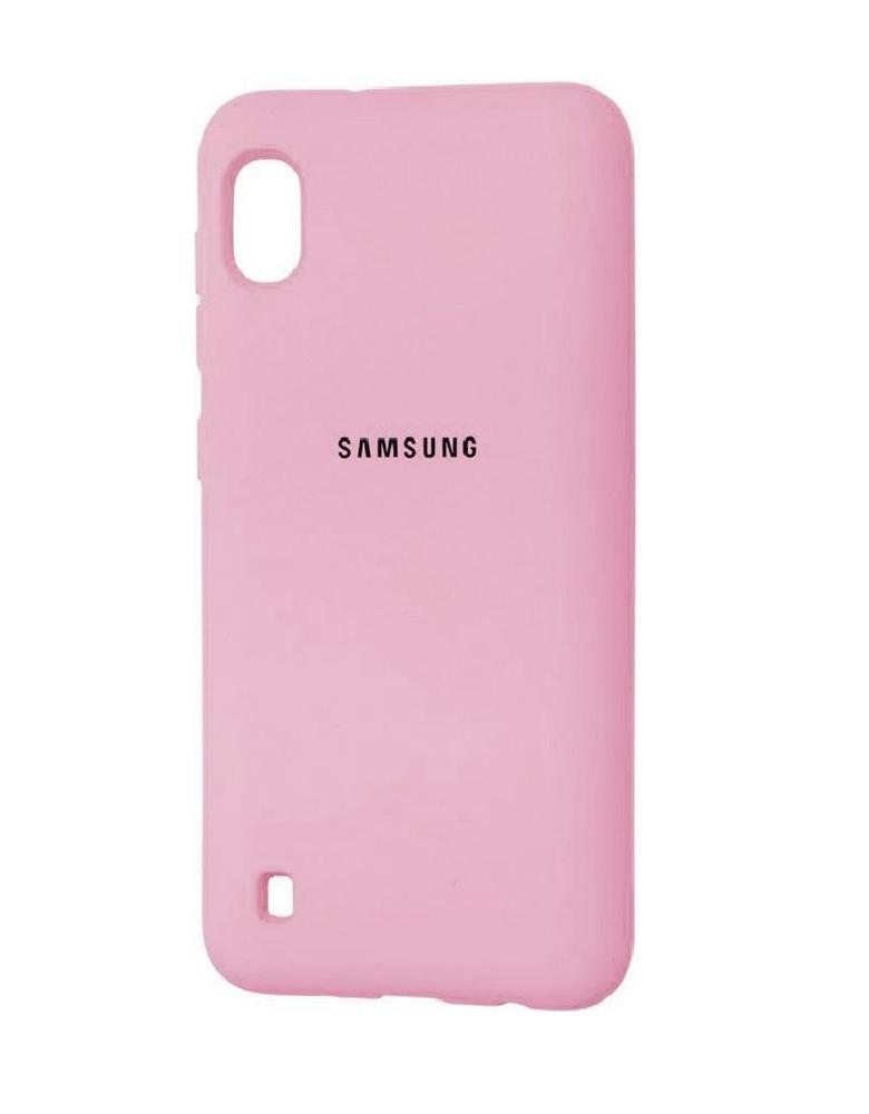 Чехол Silicone Cover для Samsung Galaxy A10 розовый