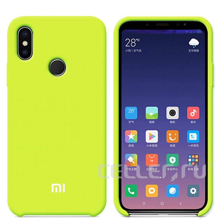 Silicone Cover для Xiaomi Redmi Note 6 Pro (салатовый)