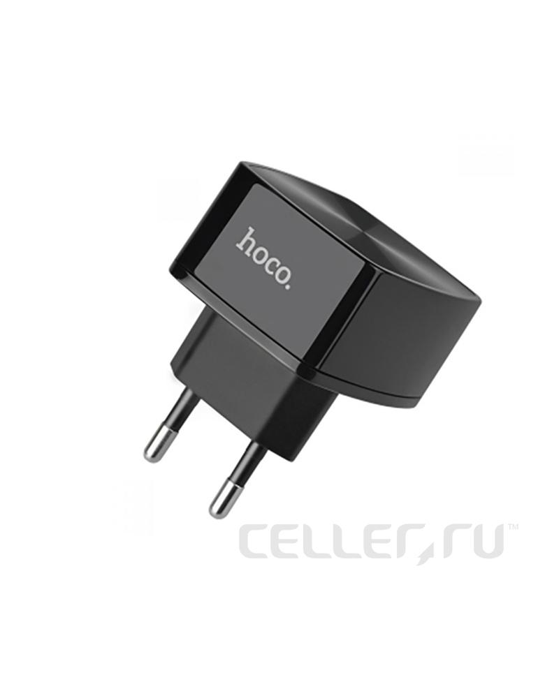 Зарядное устройство Hoco C26 Maghty Power QC 3.0 Single-Port Charger цвет: черный