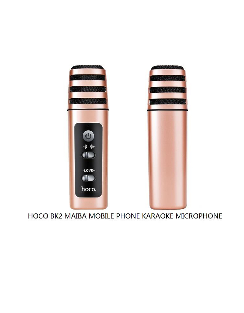 Микрофон Hoco BK2 цвет: розовое золото