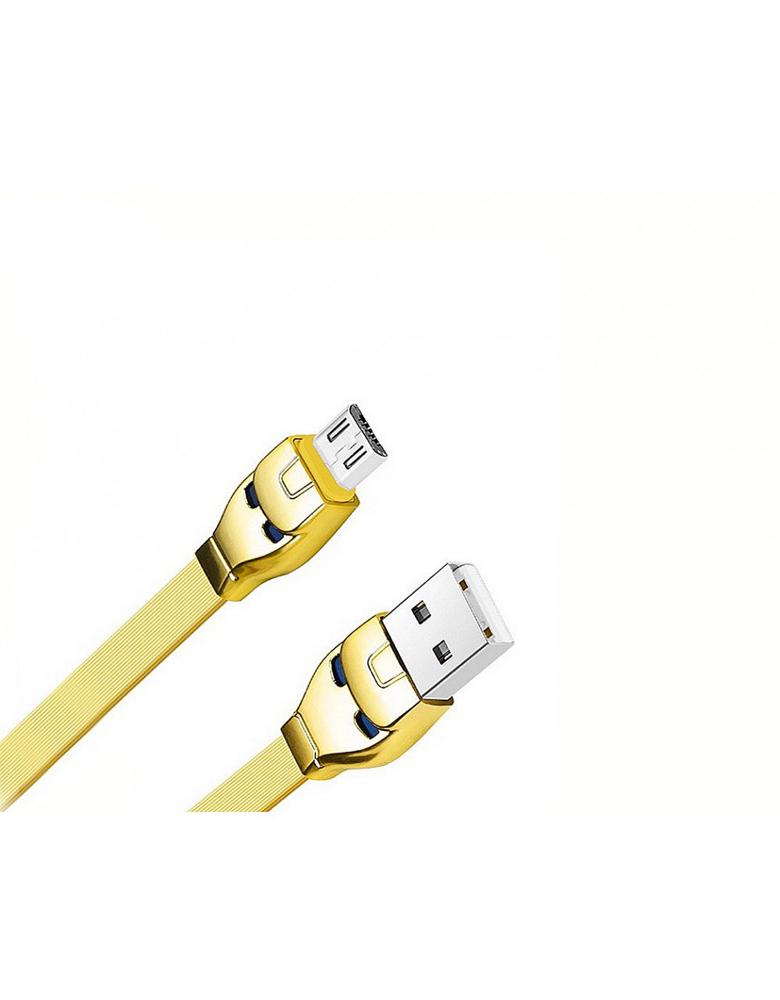 USB кабель HOCO (Original ) U14 Micro 1,2 м Цвет: Золотой