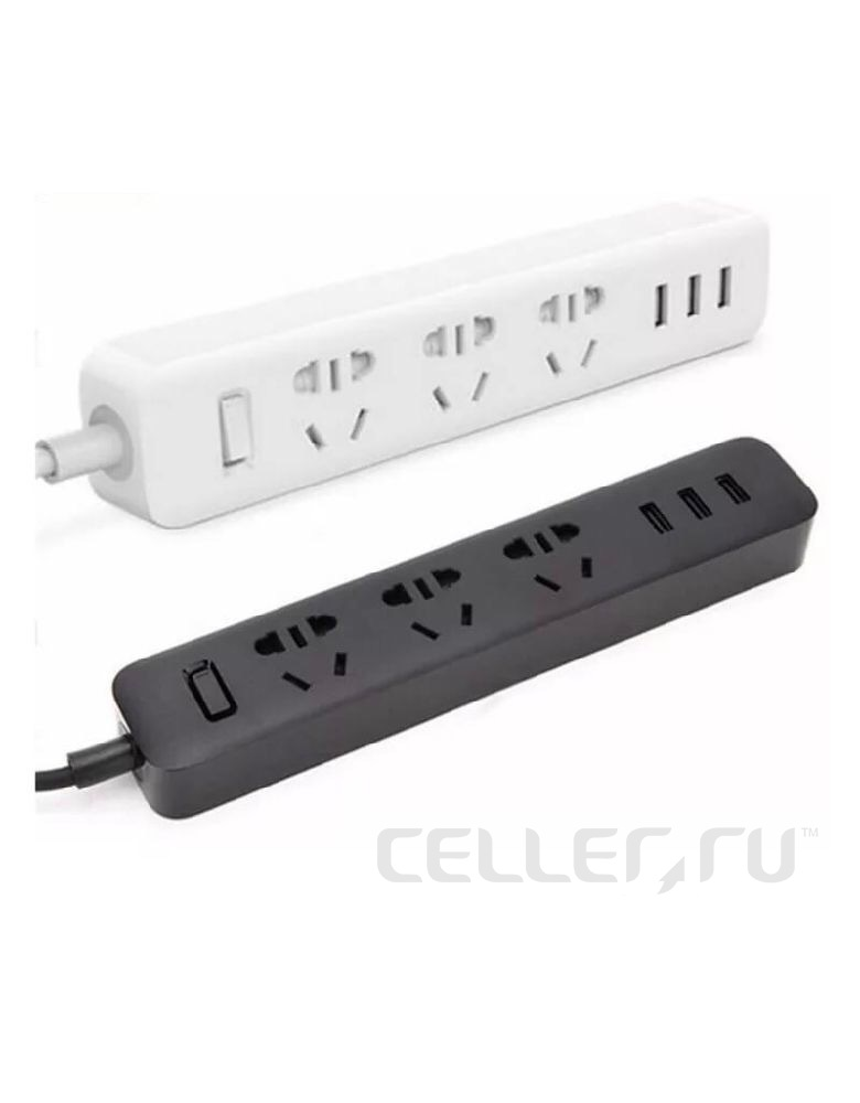 Удлинитель Xiaomi Mi Power Strip (3 розетки+3 USB)