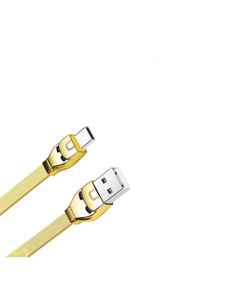 USB кабель HOCO (Original ) U14 Type-C 1,2 м Цвет: Золото