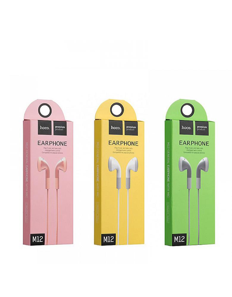 Наушники с микрофоном HOCO (original) M12 Цвет: Розовый