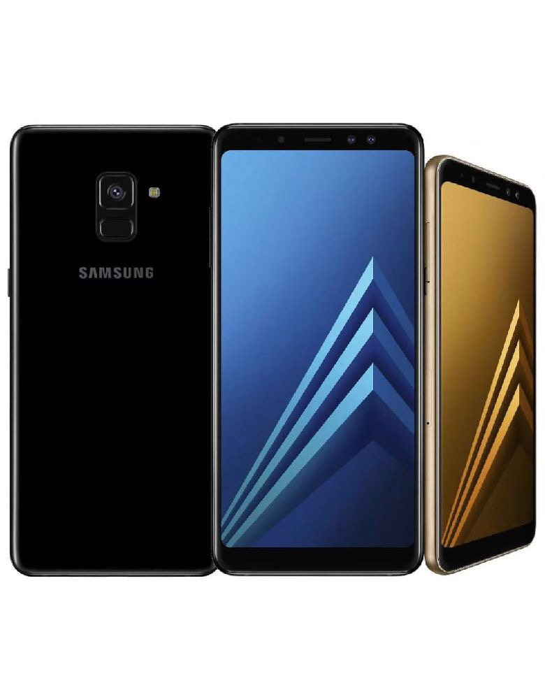 Смартфон Samsung Galaxy A8+ Черный бриллиант