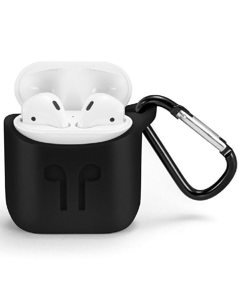 Силиконовый чехол для беспроводных наушников Apple AirPods Black
