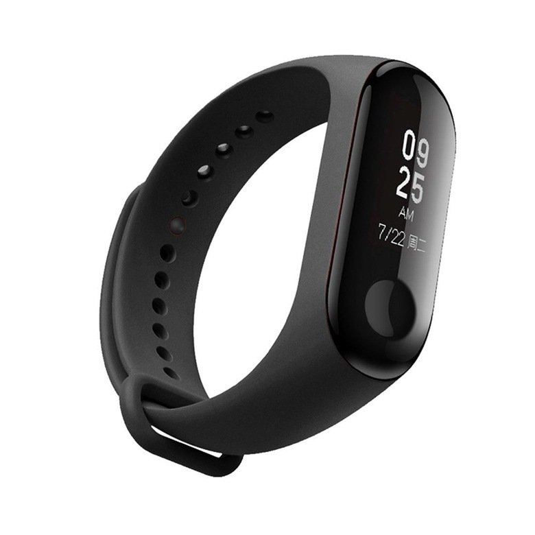 Ремешок для фитнес браслета Xiaomi Mi Band 3 (черный)