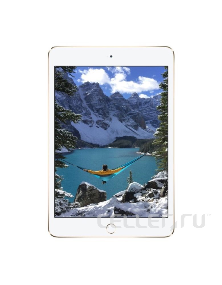 Apple iPad mini 4 128Gb+Cellular Wi-Fi Gold