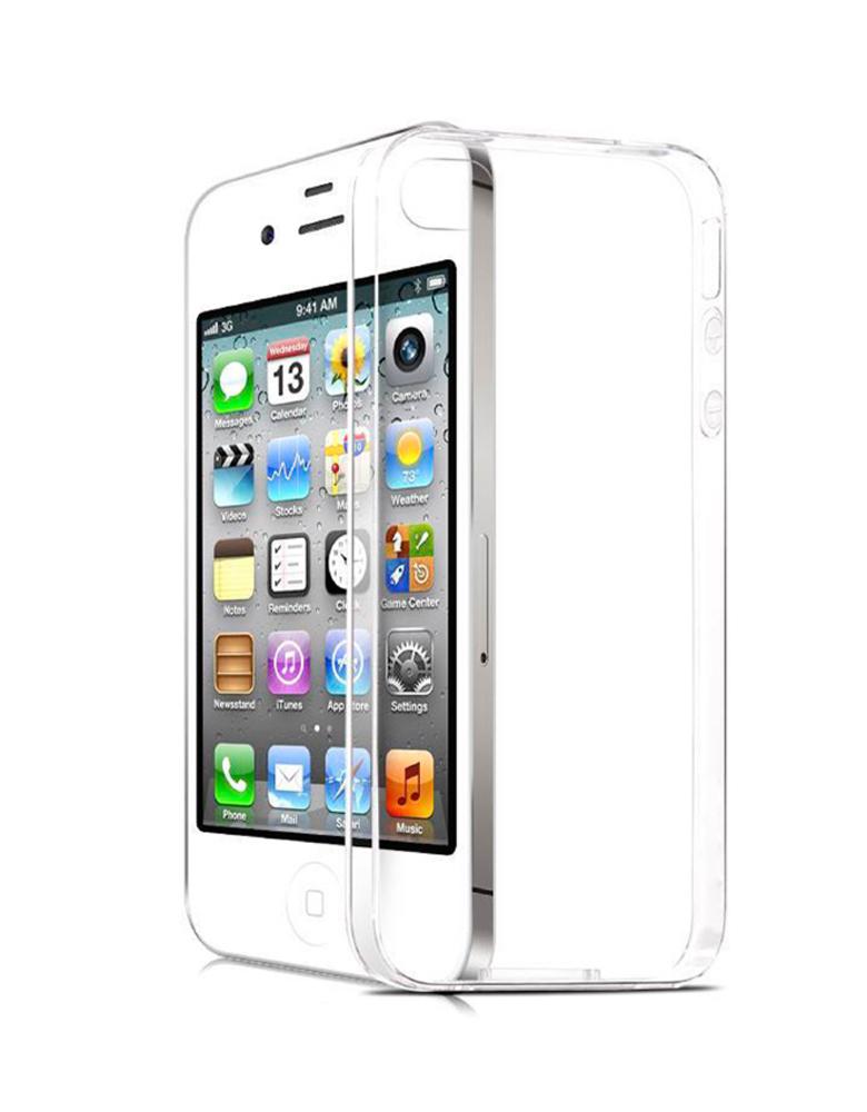 Чехол iPhone 4/4s Прозрачный Силиконовый