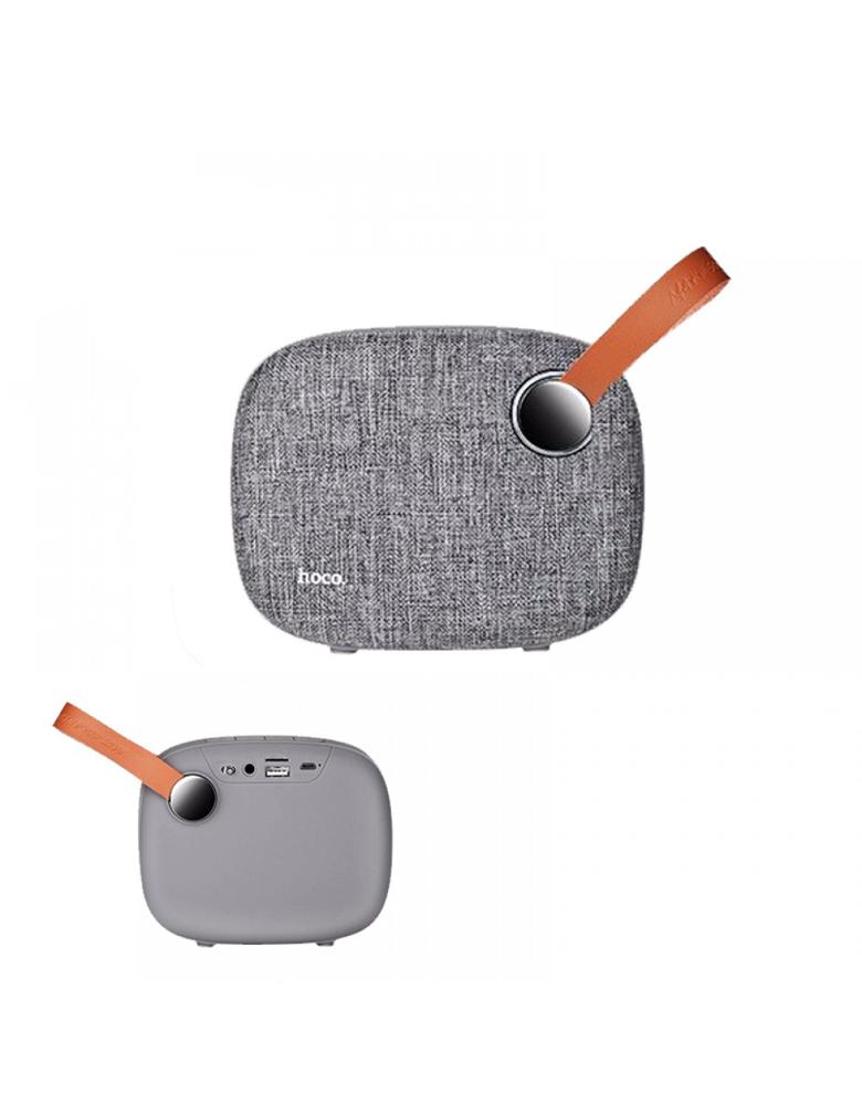 Портативная bluetooth колонка HOCO(original) BS8 Plain textile desktop Цвет: Серый