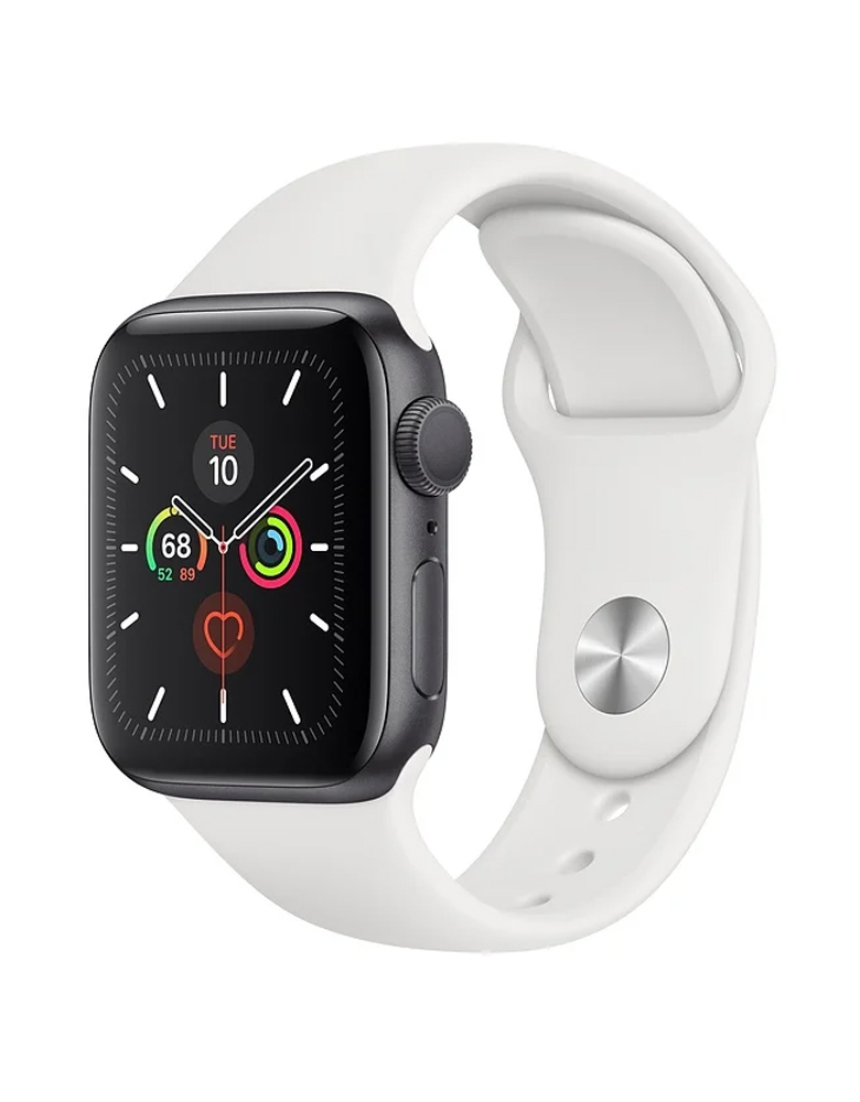 Умные часы Apple Watch Series 5 GPS 40mm Aluminum Case with Sport Band белые