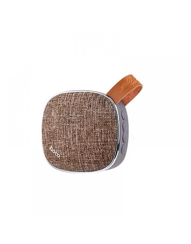Портативная bluetooth колонка HOCO(original) BS9 Light textile desktop Цвет: Коричневый