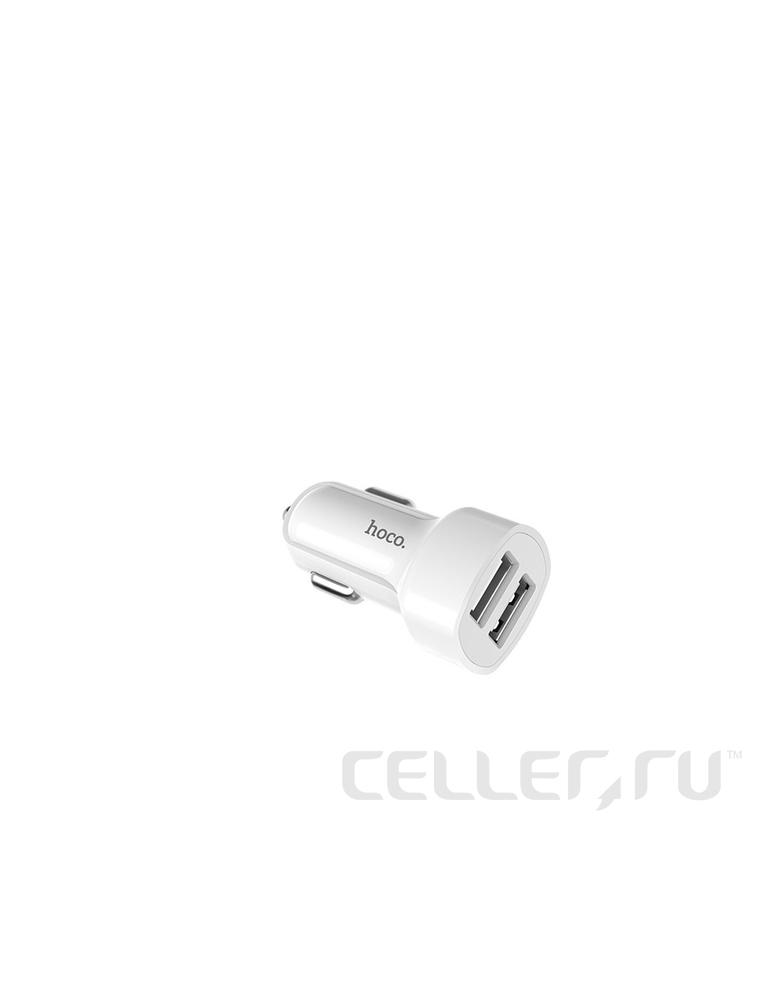 Автомобильное зарядное устройство Hoco Z2A цвет: белый
