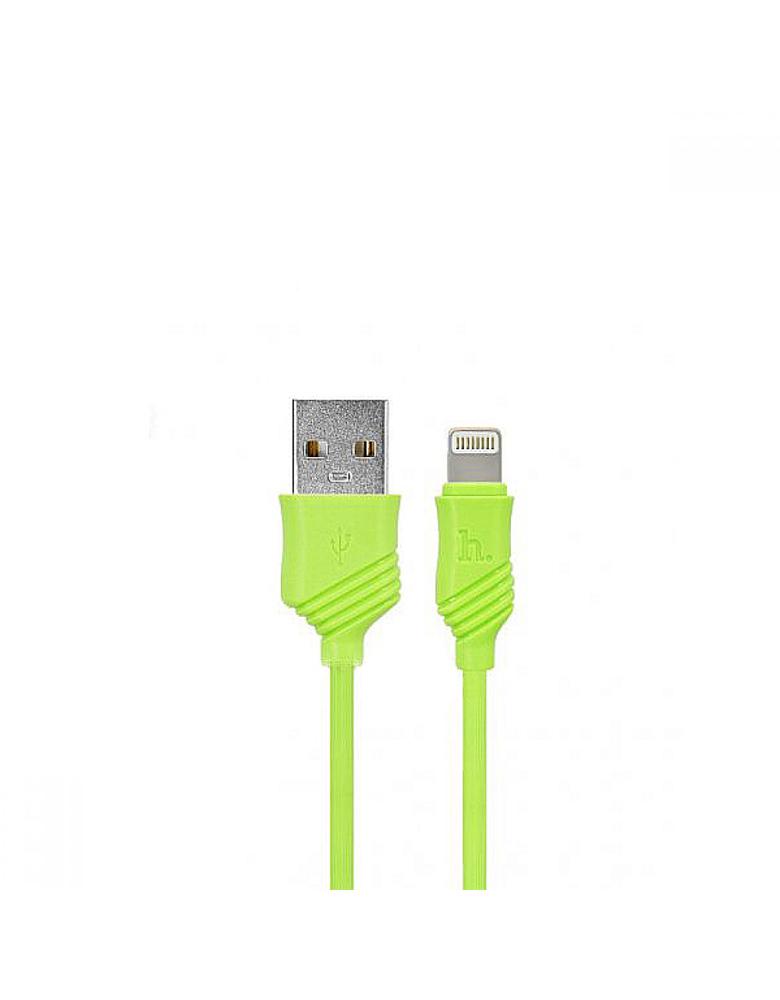 USB кабель HOCO (Original) X6 Khaki для Apple 1м Цвет: Зеленый