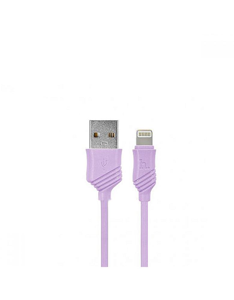 USB кабель HOCO (Original) X6 Khaki для Apple 1м Цвет: Фиолетовый