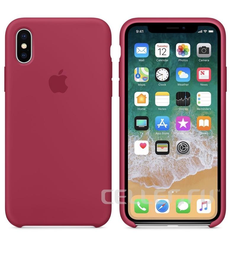 iPhone 8 Plus Silicone Case - Rose Red