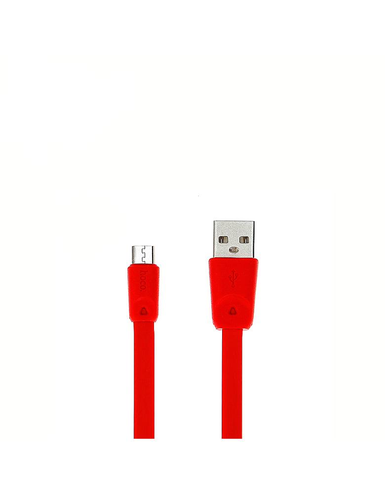USB кабель HOCO (Original) X9 Micro 1 м. Цвет: Красный