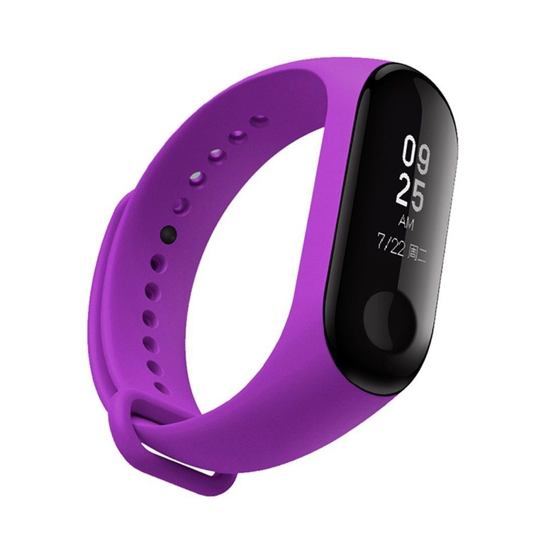 Ремешок для фитнес браслета Xiaomi Mi Band 3 (фиолетовый)