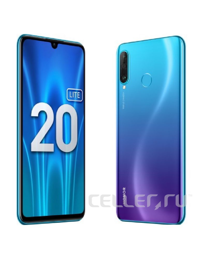 Смартфон Honor 20 Lite 4/128GB (RU) Peacock Blue