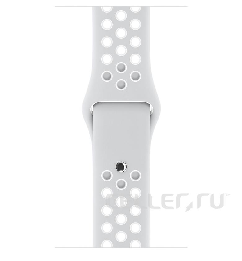 38mm Pure Platinum/White Nike Sport Band
