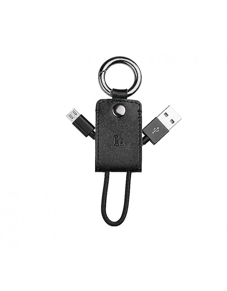 USB кабель-брелок HOCO (Original) UPM19 Micro 15см Цвет: Черный
