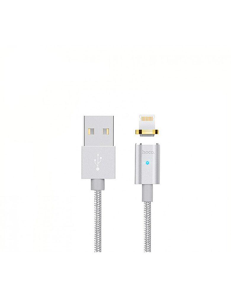 Магнитный USB кабель HOCO (Original ) U16 Apple 1,2м Цвет: Серебро