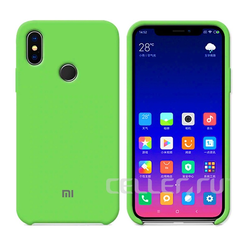 Silicone Cover для Xiaomi Redmi 5 Plus (зеленый)