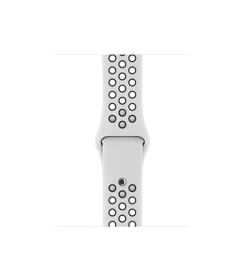 38mm Pure Platinum/Black Nike Sport Band