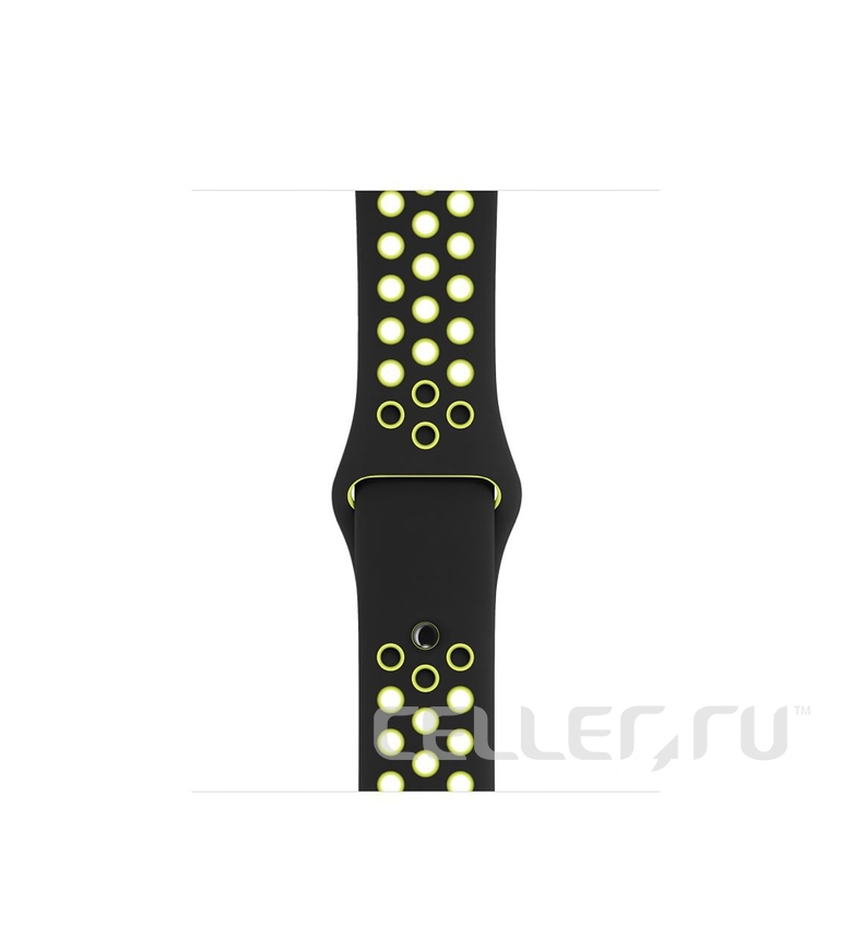 42mm Black/Volt Nike Sport Band