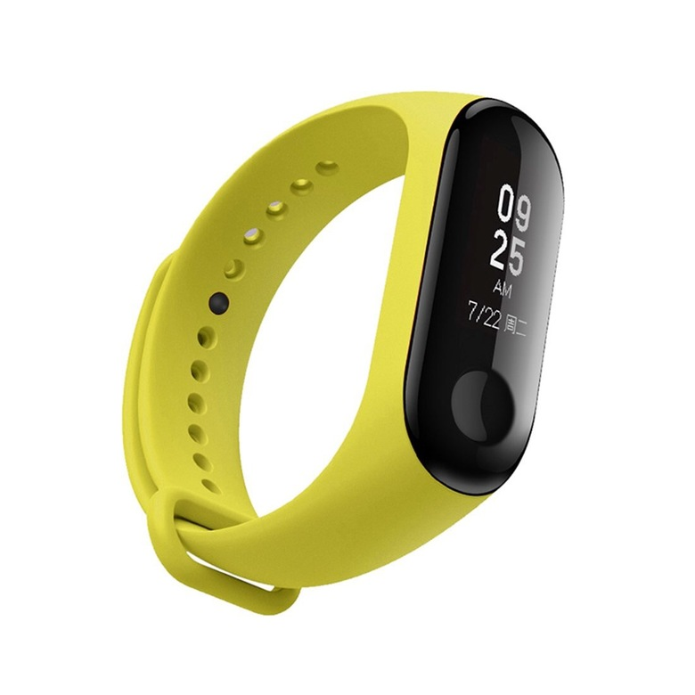 Ремешок для фитнес браслета Xiaomi Mi Band 3 (желтый)