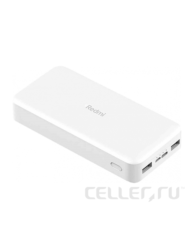 Аккумулятор Xiaomi Redmi Power Bank Fast Charge 20000 Белый