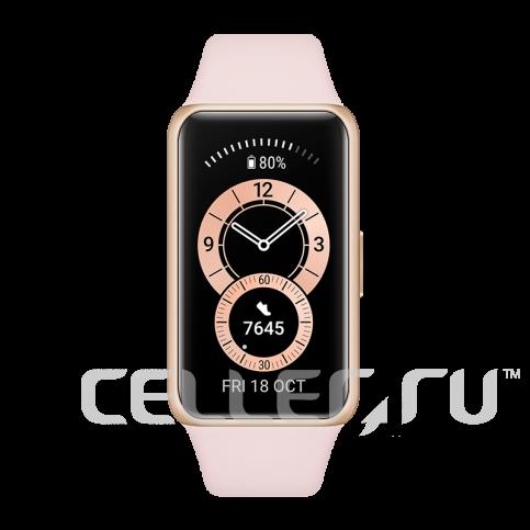 Умный браслет HUAWEI Band 6, розовая сакура