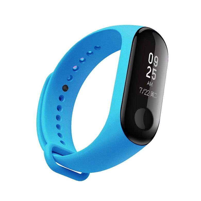 Ремешок для фитнес браслета Xiaomi Mi Band 3 (голубой)