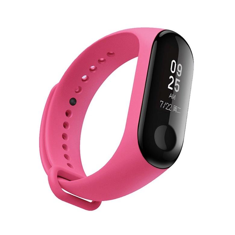 Ремешок для фитнес браслета Xiaomi Mi Band 3 (розовый)