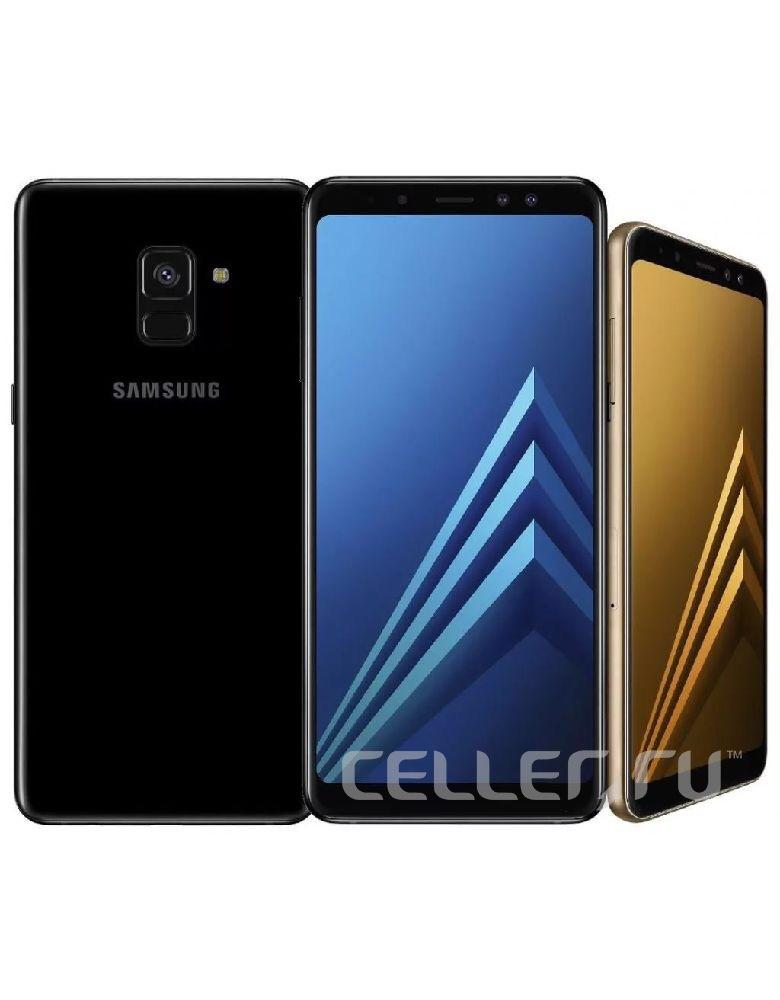 Смартфон Samsung Galaxy A8+ Желтый топаз