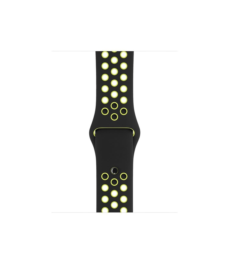 38mm Black/Volt Nike Sport Band