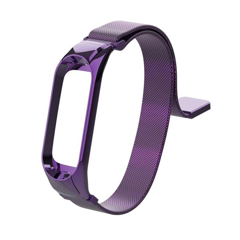 Сетчатый браслет для Xiaomi Mi Band 3 (фиолетовый)