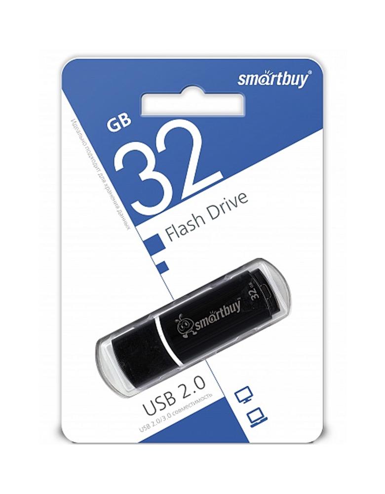 Флешка SmartBuy USB 2.0 32GB Черная