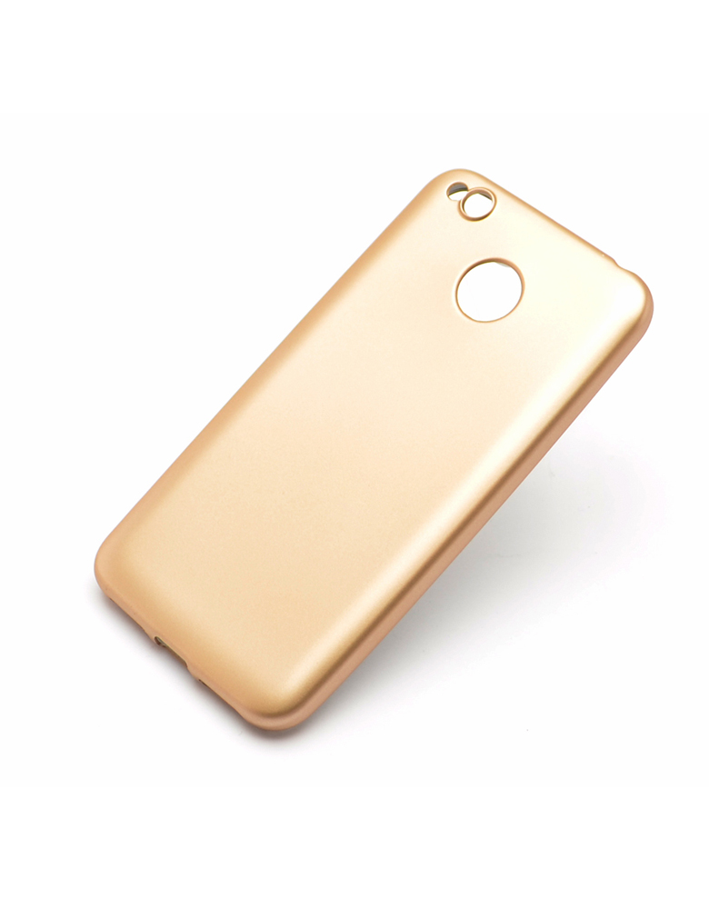 Чехол Xiaomi 4a пластик Soft touch Gold