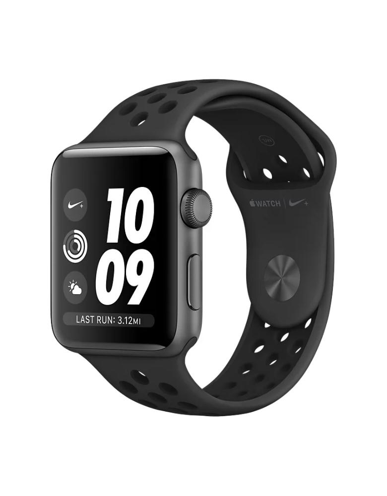 Умные часы Apple Watch Series 3 42mm Aluminum Case with Nike Sport Band черные