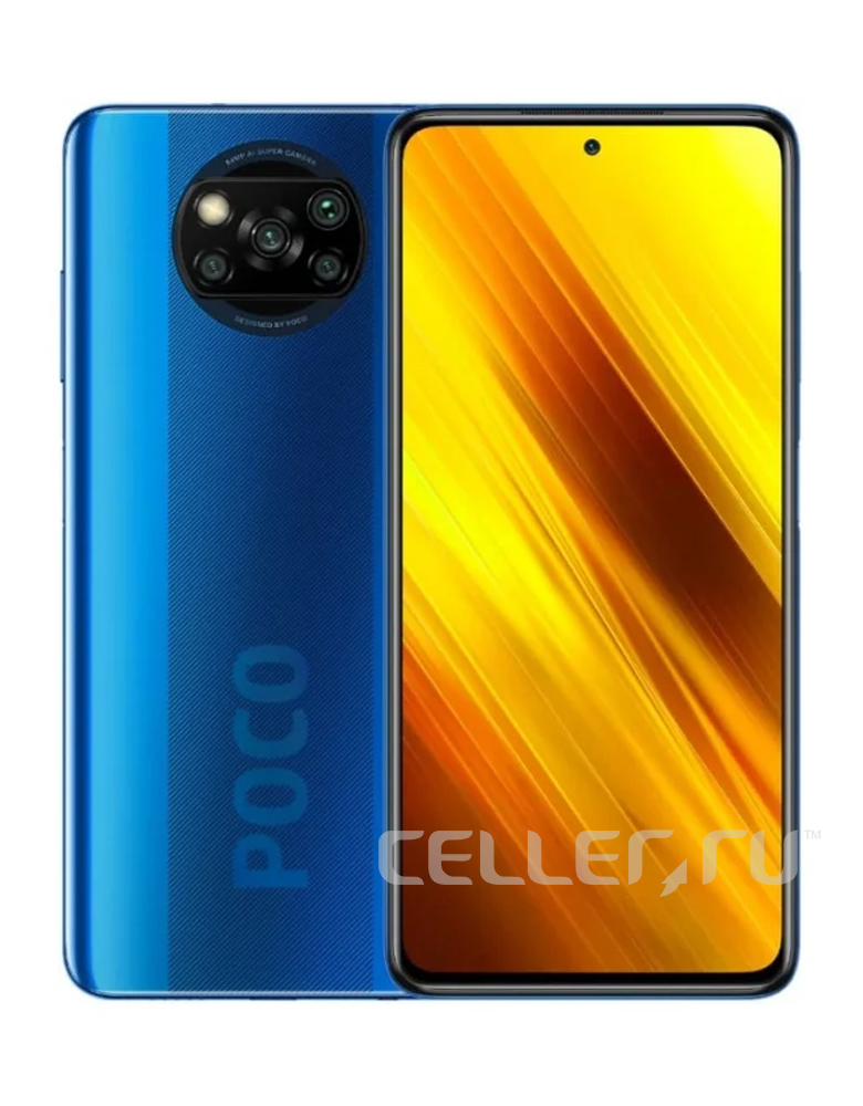 Смартфон Xiaomi Poco X3 Pro NFC 6/128GB Синий кобальт