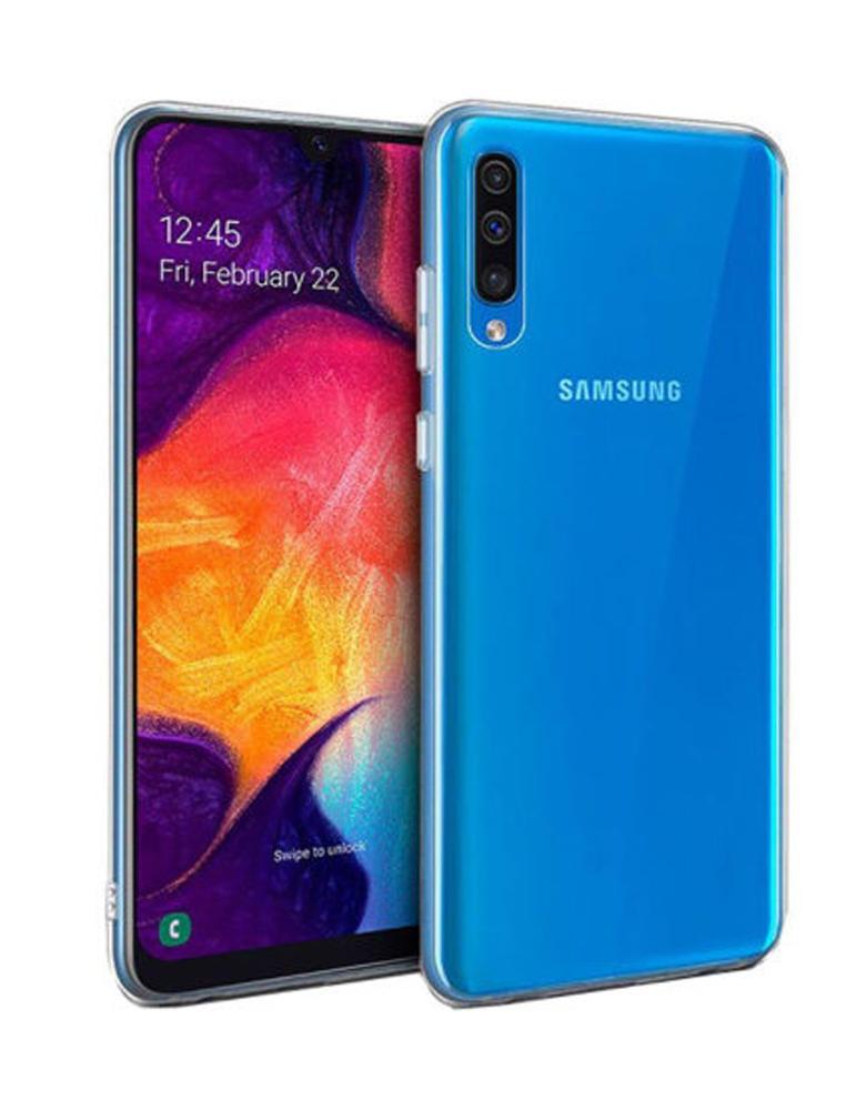 Силиконовый чехол для Samsung Galaxy A30s/A50/A50s прозрачный